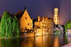Belgien Bruges, klockatorn Royaltyfri Fotografi