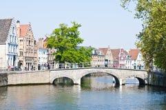 Belgien brugge Arkivbild