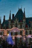 Belgien brugge julmarknad Arkivbilder