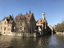 Belgien brugge sikt royaltyfria bilder