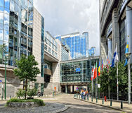 Belgien brussels europeanparlament Royaltyfri Fotografi
