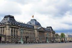 Belgien brussels slottkunglig person Arkivbilder