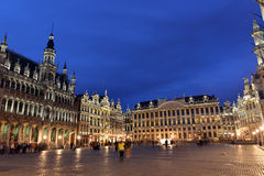Belgien Bryssel, Grote Markt Arkivfoton