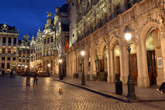 Belgien Bryssel, Grote Markt Arkivbilder