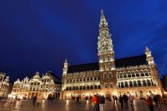 Belgien Bryssel, Grotte Markt Arkivfoto