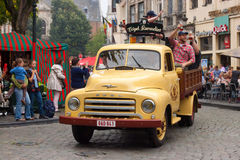 BELGIEN BRYSSEL - SEPTEMBER 06, 2014: Belgisk ölhelg 2014 Fotografering för Bildbyråer