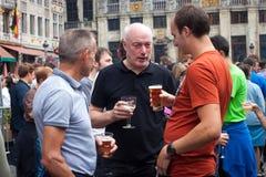 BELGIEN BRYSSEL - SEPTEMBER 07, 2014: Belgisk ölhelg 2014 Royaltyfri Foto