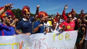 Belgien-Fans lizenzfreie stockfotografie