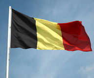 Belgien flagga royaltyfri fotografi
