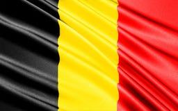 Belgien flagga vektor illustrationer
