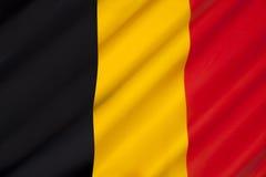 Belgien flagga Fotografering för Bildbyråer