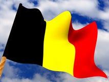 Belgien flagga stock illustrationer