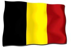 Belgien flagga Arkivbild