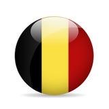 Belgien flagga också vektor för coreldrawillustration Fotografering för Bildbyråer