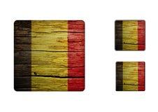 Belgien flaggaknappar Royaltyfri Fotografi