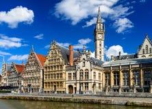 Belgien gent royaltyfri fotografi