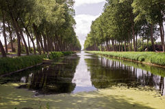 Belgien kanal royaltyfria bilder