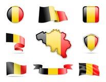 Belgien kennzeichnet Sammlung Stock Abbildung