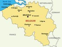 Belgien kungarikeöversikt vektor illustrationer
