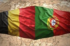 Belgien och Portugal Royaltyfria Bilder