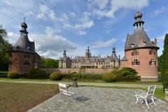 Belgien Ooidonk slott Arkivbild