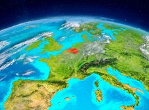 Belgien på jord Fotografering för Bildbyråer