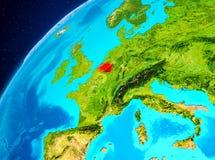 Belgien på jord från utrymme Arkivfoto