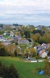 Belgien, Panoramablick des Dorfs Stockbild