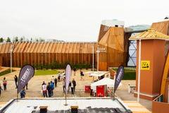 Belgien-Pavillon an Ausstellung 2015, Mailand Lizenzfreie Stockbilder
