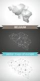 Belgien-Satz Grau und polygonale Karten des Silbermosaiks 3d Stockfoto