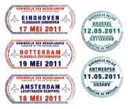 Belgien und die Niederlande vektor abbildung