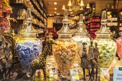 Belgijska czekolada w cukierku sklepie w Bruksela, Belgia Obrazy Stock