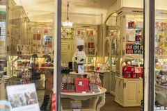 Belgijska czekolada w cukierku sklepie w Bruksela, Belgia Zdjęcie Royalty Free
