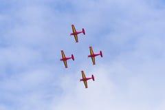Belgijska czerwonych diabłów wyczynu kaskaderskiego drużyna Zdjęcie Stock