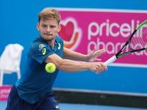 Belgijski gracz w tenisa David Goffin narządzanie dla australianu open przy Kooyong klasykiem Zdjęcia Royalty Free