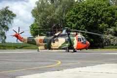 Belgijski marynarki wojennej Sea King ratuneku helikopter Obrazy Stock