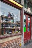 Belgijski piwo sklep w Ghent, Belgia fotografia stock