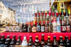 Belgijskie piwne butelki Obrazy Royalty Free