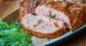 Belgisch Gehaktbrood stock afbeelding