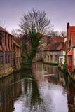 Belgisch stadskanaal Royalty-vrije Stock Afbeeldingen
