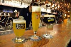 Belgische bieren stock fotografie