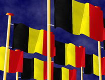 Belgische Flaggen Lizenzfreie Stockfotos