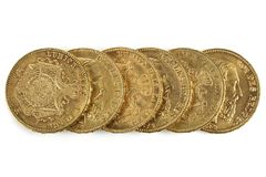 Belgische gouden muntstukken Royalty-vrije Stock Afbeeldingen
