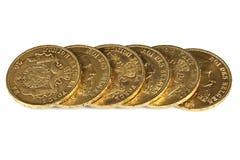 Belgische gouden muntstukken Stock Afbeelding