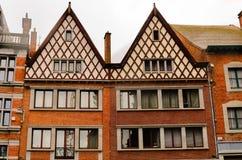 Belgische Huizen Stock Afbeelding