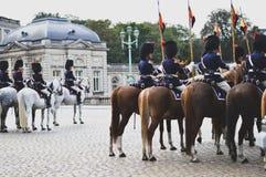 Belgische königliche Eskorte stockfoto
