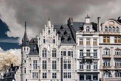 Belgische klassieke architectuurmening in infrarode kleuren Royalty-vrije Stock Afbeeldingen