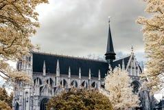 Belgische klassische Architekturansicht in Infrarotfarben Stockbilder