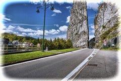 Belgische Stadt von Dinant lizenzfreies stockfoto