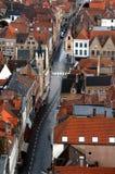 Belgische Straat Royalty-vrije Stock Afbeeldingen